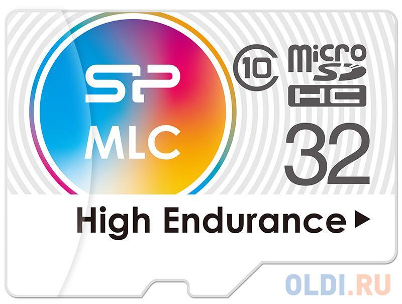 Флеш карта microSD 32GB Silicon Power High Endurance microSDHC Class 10 UHS-I U3 (SD адаптер), MLC флеш карта microsd 16gb verbatim microsdhc class 10 uhs i sd адаптер