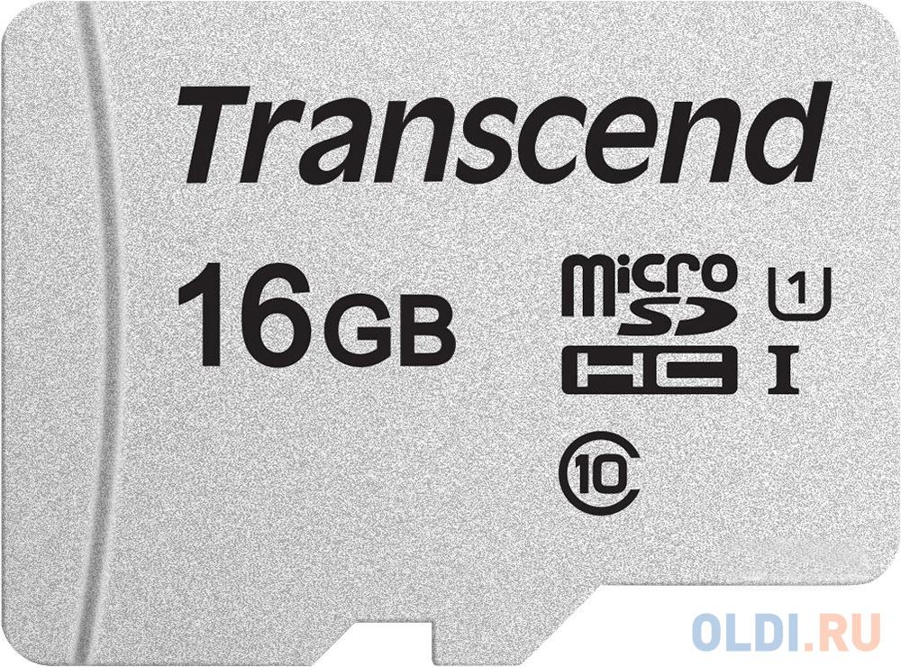 Флеш карта microSDHC 16Gb Class10 Transcend TS16GUSD300S w/o adapter.