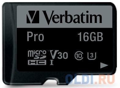 Флеш карта microSD 16GB Verbatim microSDHC Class 10 UHS-I (SD адаптер) флеш карта microsd 16gb verbatim microsdhc class 10 uhs i sd адаптер