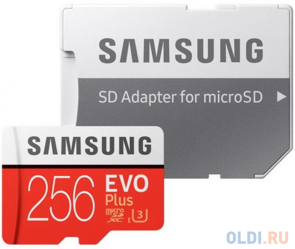 Фото - Флеш карта microSDXC 256Gb Class10 Samsung MB-MC256HA/RU EVO PLUS + adapter карта памяти samsung mb mc256ha