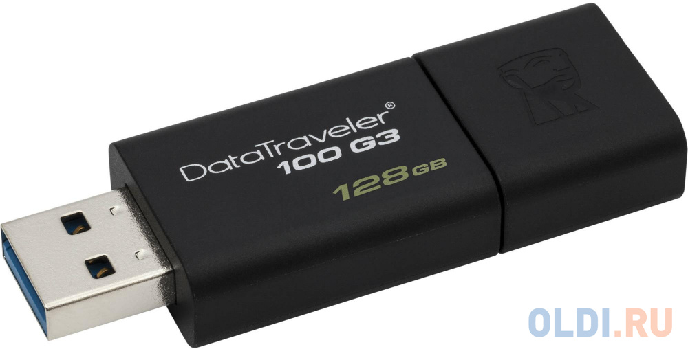 Флешка USB 128Gb Kingston DataTraveler 100 G3 DT100G3/128GB черный флешка kingston datatraveler 100 g3 128gb