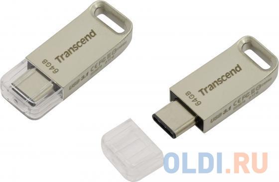 Фото - Флешка USB 64Gb Transcend JetFlash 850 OTG TS64GJF850S серебристый флешка usb 32gb transcend jetflash 890 ts32gjf890s серебристый