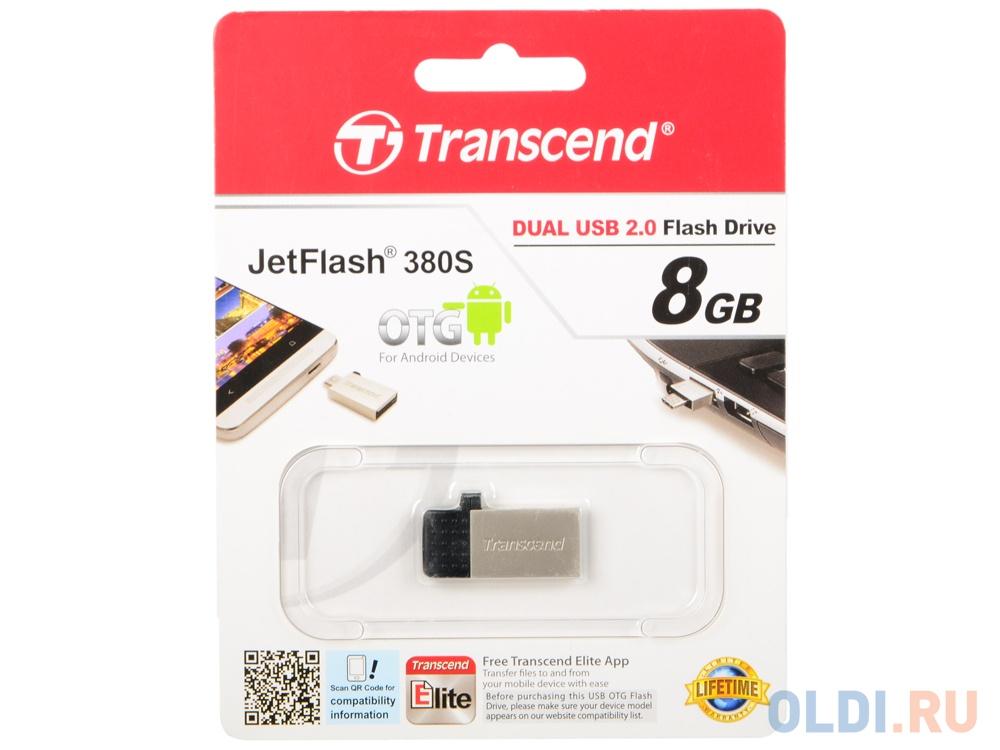 USB флешка Transcend Jetflash 380 8Gb Silver (TS8GJF380S)