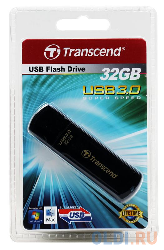 Внешний накопитель 32GB USB Drive <USB 3.0 Transcend 700 (TS32GJF700).