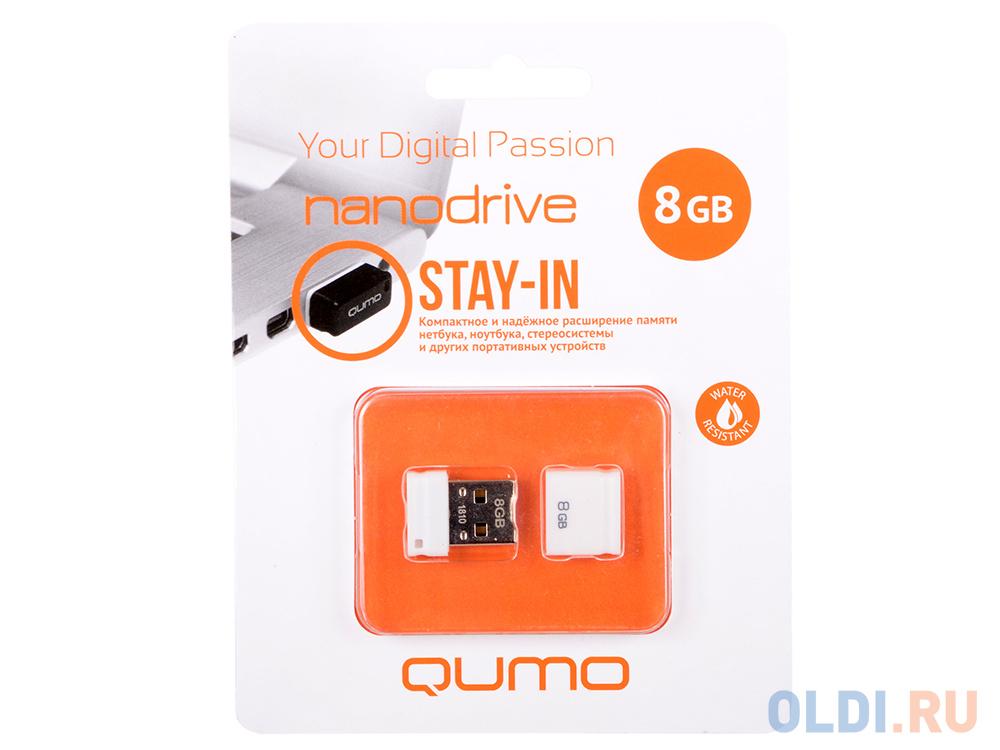 USB флешка QUMO NanoDrive 8Gb White (QM8GUD-NANO-W) usb флешка qumo nanodrive qm32gud nano b 32gb black