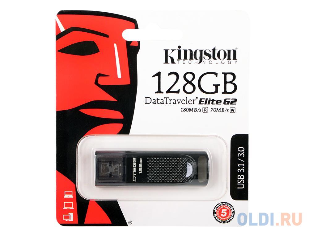 Флешка USB 128Gb Kingston DTEG2/128GB черный