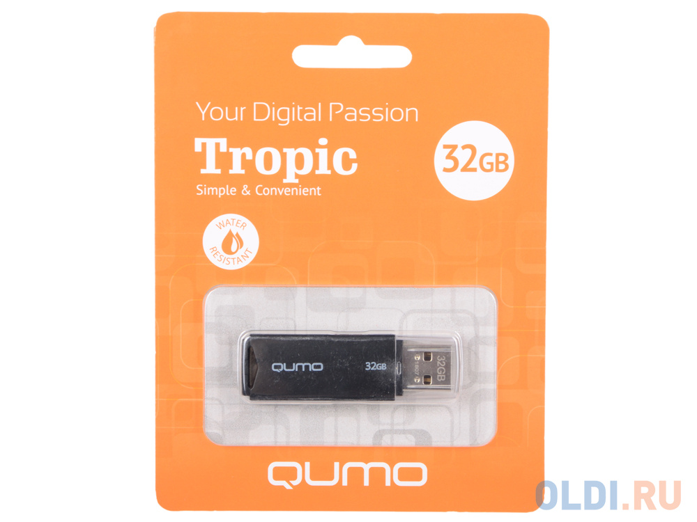 USB флешка QUMO Tropic 32Gb Black (QM32GUD-TRP-Black) флешка qumo twist 32gb фисташковый