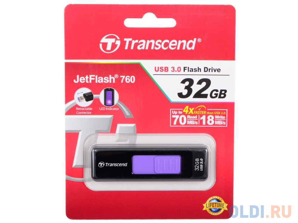 USB флешка Transcend JetFlash 760 32Gb Black (TS32GJF760)