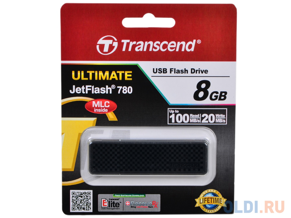 USB флешка Transcend JetFlash 780 8Gb Black (TS8GJF780)