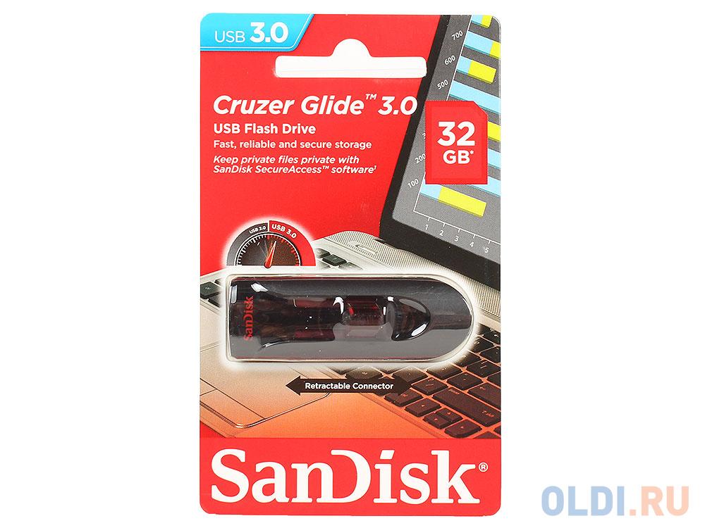 Внешний накопитель 32GB USB Drive <USB 3.0 SanDisk Cruzer Glide 3.0 (SDCZ600-032G-G35).