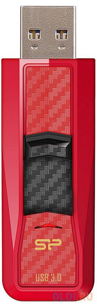 Флешка USB 64Gb Silicon Power Blaze B50 SP064GBUF3B50V1R красный
