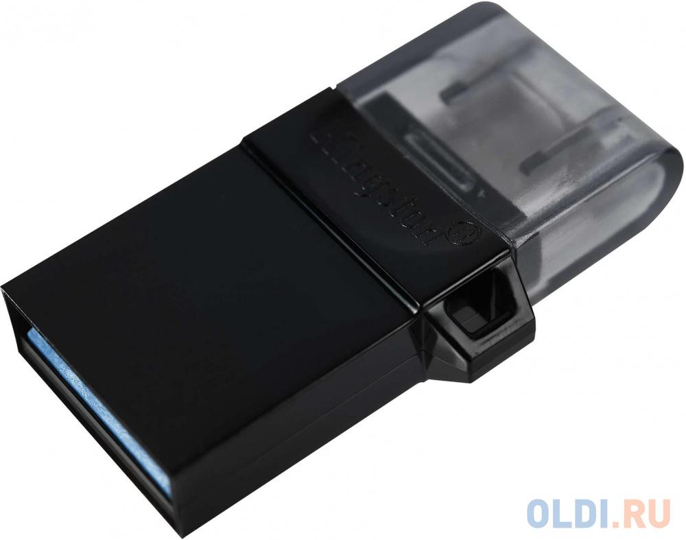 Флешка 64Gb Kingston DTDUO3G2 USB 3.0 microUSB черный