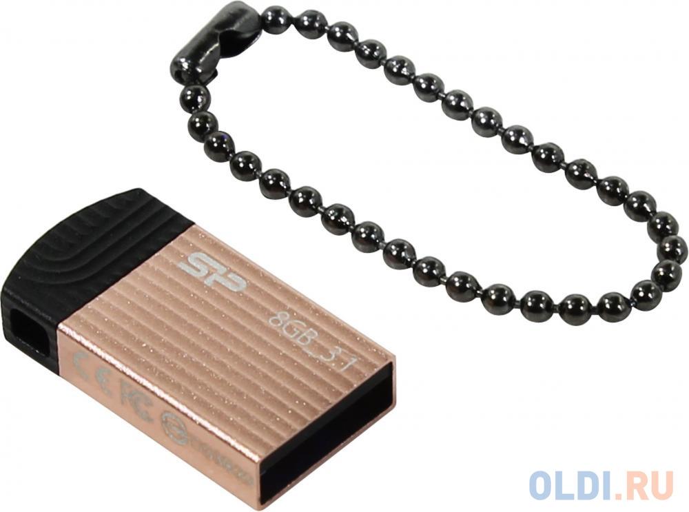 Фото - Флеш накопитель 8Gb Silicon Power Jewel J20, USB 3.1, Розовый накопитель usb 3 0 8gb silicon power jewel j08 sp008gbuf3j08v1k черный