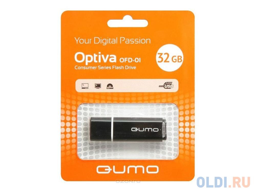 Флешка 32Gb QUMO QM32GUD-OP1 USB 2.0 черный usb флешка qumo nanodrive qm32gud nano b 32gb black
