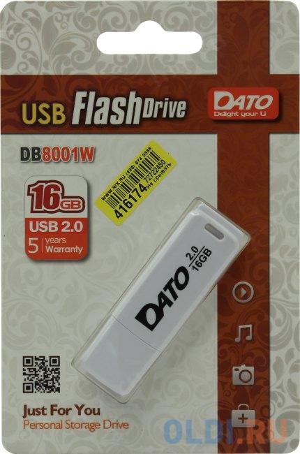 Флешка 16Gb Dato db8001w-16g USB 2.0 белый