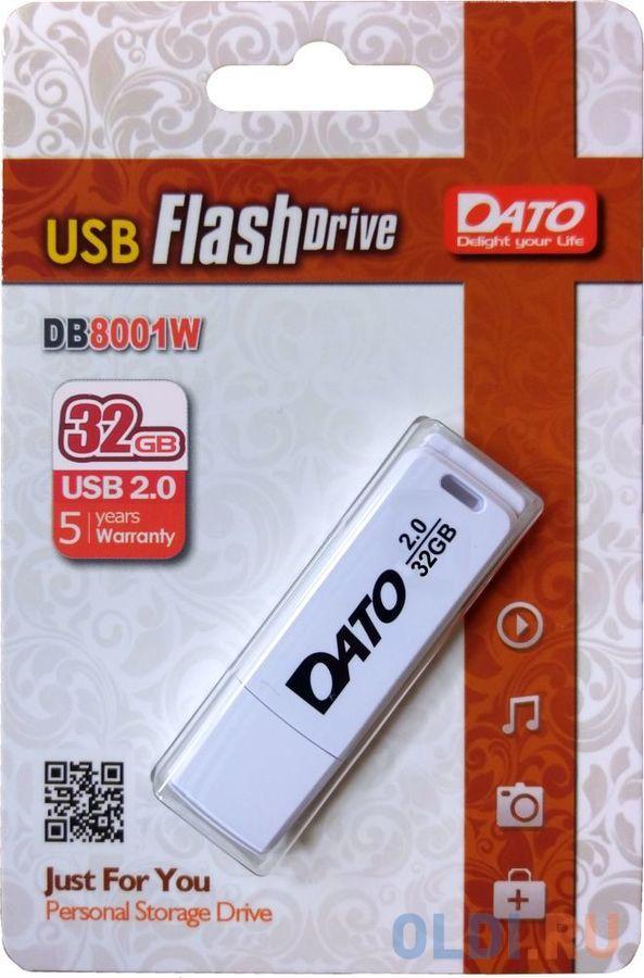 Флешка 32Gb Dato DB8001W-32G USB 2.0 белый
