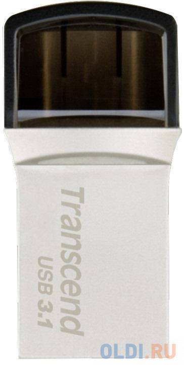 Флешка 128Gb Transcend JetFlash 890 USB 3.1 серебристый