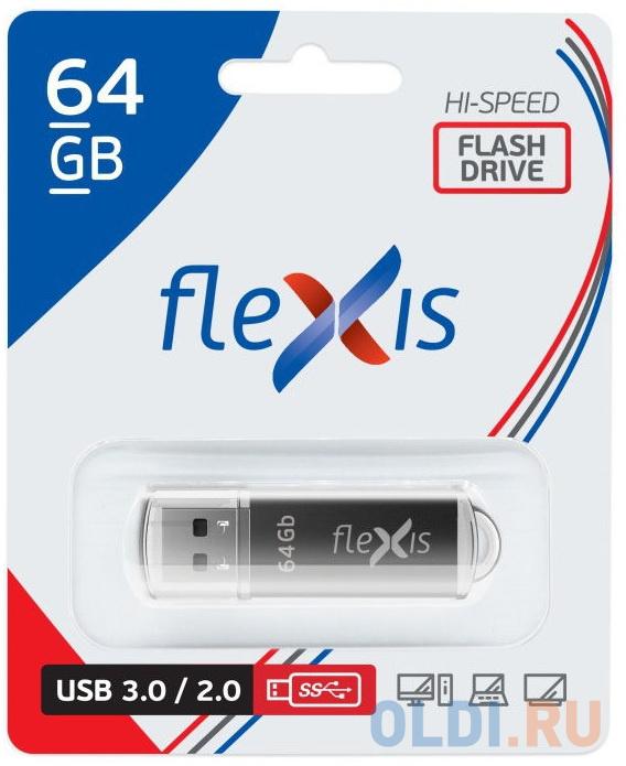 Флешка 64Gb Flexis RB-108 USB 3.0 черный