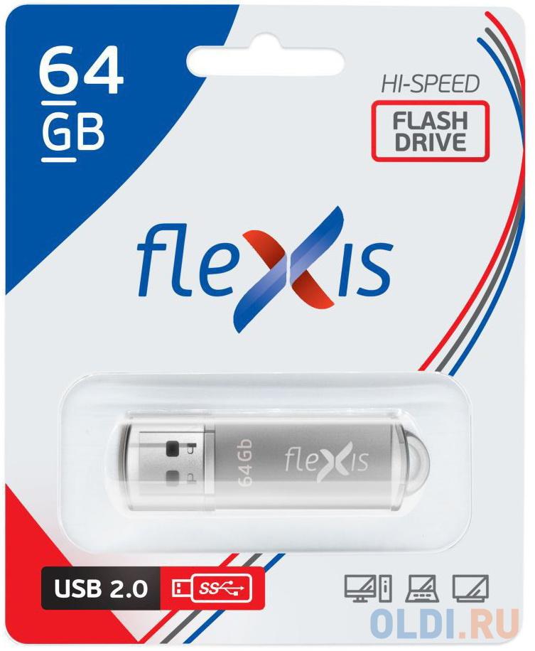 Флешка 64Gb Flexis RB-108 USB 2.0 серый