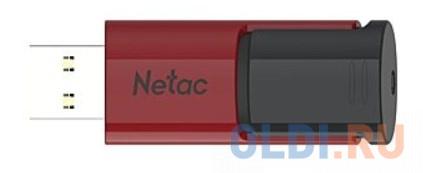 Флеш Диск Netac U182 Red 16Gb , USB3.0, сдвижной корпус, пластиковая чёрно-красная