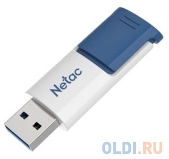 Флеш Диск Netac U182 Blue 16Gb , USB3.0, сдвижной корпус, пластиковая бело-синяя