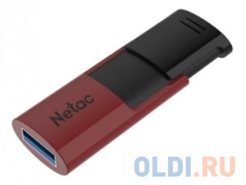 Флеш Диск Netac U182 Red 64Gb , USB3.0, сдвижной корпус, пластиковая чёрно-красная