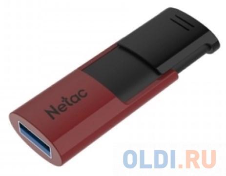 Флешка 128Gb Netac U182 USB 3.0 черный красный