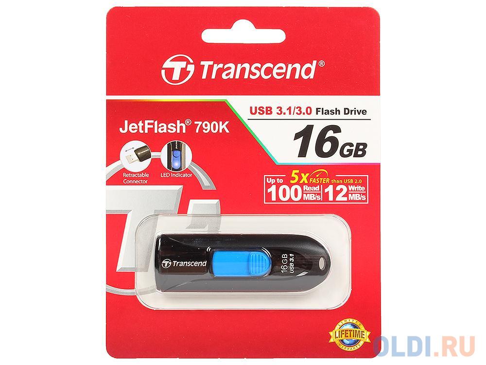 Внешний накопитель 16GB USB Drive <USB 3.0 Transcend 790K (TS16GJF790K).