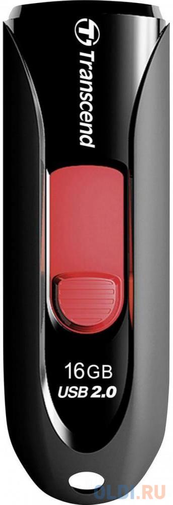 Фото - Флешка USB 16Gb Transcend JetFlash 590 TS16GJF590K черный usb флешка transcend jetflash 780 64gb black ts64gjf780 usb 3 0 210 мб с 140 мб с