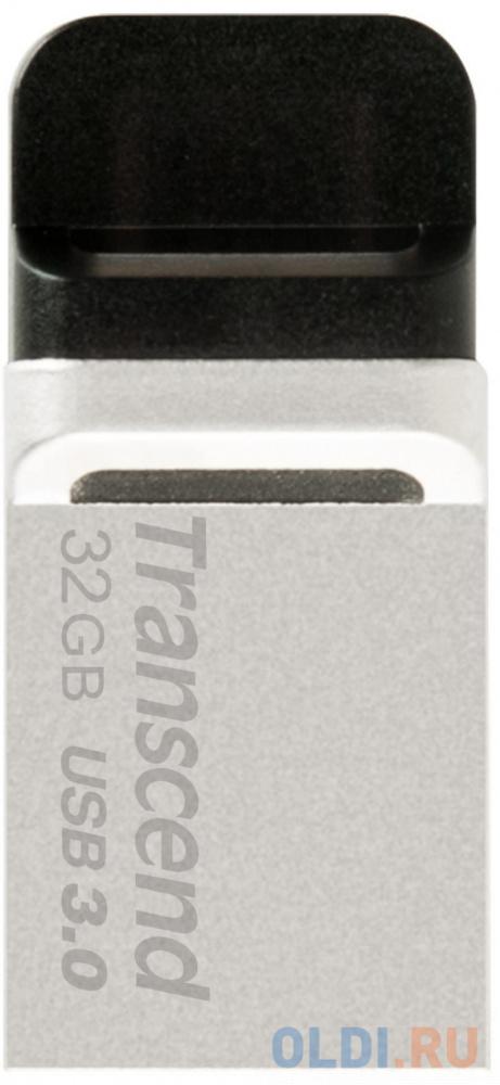 Флешка USB 32Gb Transcend JetFlash 880 TS32GJF880S серебристый