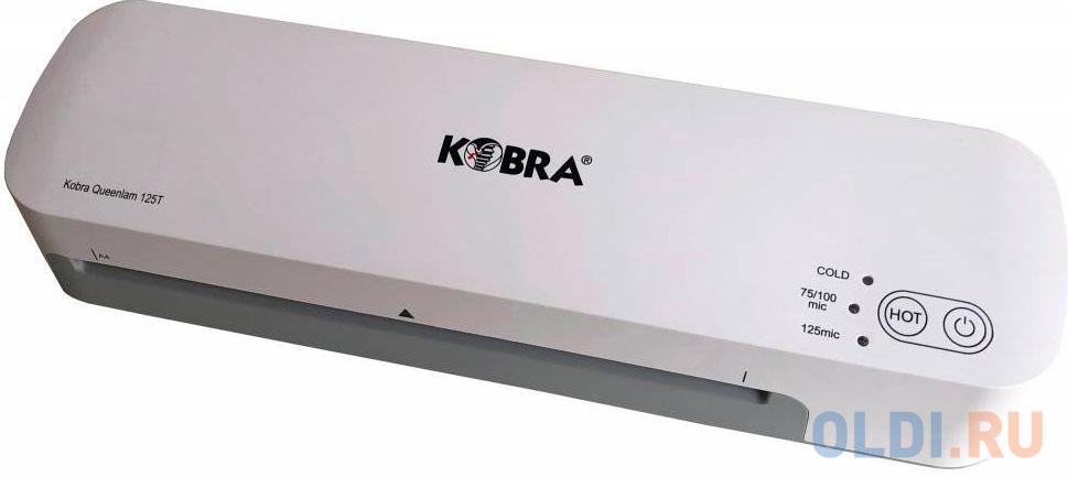 Ламинатор Kobra Queenlam 125 T A4 (75-125мкм) 42см/мин (2вал.) хол.лам. лам.фото реверс.