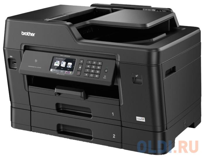 МФУ струйное Brother MFC-J3930DW принтер/сканер/копир/факс,A3, 22/20 стр/мин, дуплекс,DADF,доп.лоток 250 лст,256Мб,USB,LAN,WiFi,NFC(замена MFCJ3720R1)