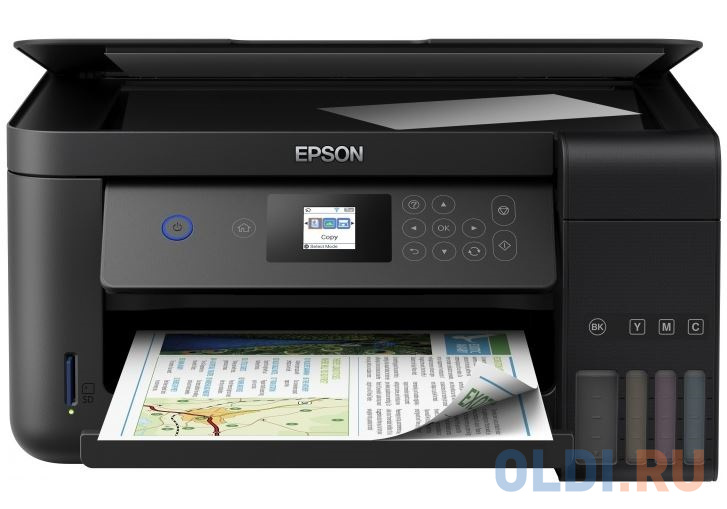 МФУ EPSON L4160 Принтер/сканер/копир. A4. Фабрика Печати. 33 стр/мин. Цветной. Wi-Fi. ЖК дисплей.