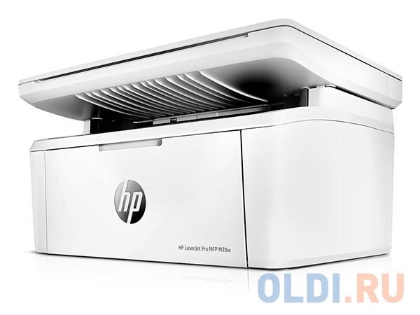 МФУ HP LaserJet Pro M28w W2G55A принтер/сканер/копир, A4, 18 стр/мин, 32Мб, USB, WiFi