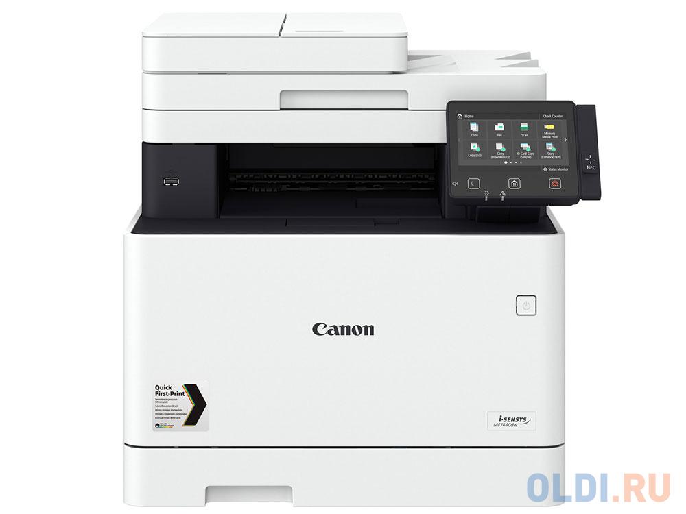 Фото - МФУ Canon i-SENSYS MF744Cdw (копир-цветной принтер-сканер DADF, duplex, 27стр. мин. 1200x1200dpi, Fax, WiFi, LAN, A4) замена MF734Cdw мфу лазерный canon i sensys mf269dw 2925c028 a4 duplex wifi
