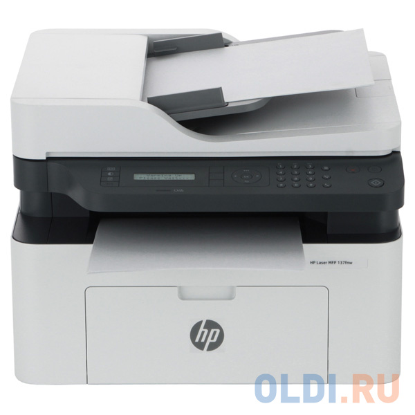 МФУ HP Laser 137fnw <4ZB84A> принтер/сканер/копир/факс, A4, 20 стр/мин. 128Мб, USB, LAN, WiFi (замена SS298B Samsung SL-M2070FW)