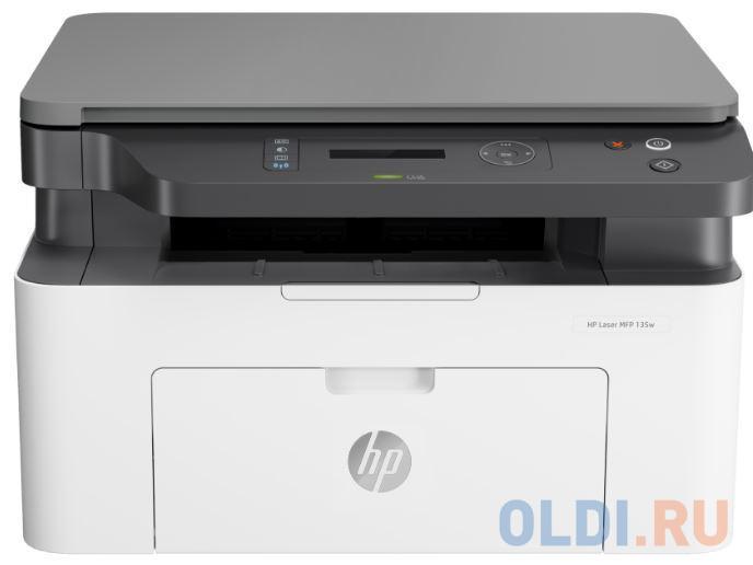 МФУ HP Laser 135w <4ZB83A> принтер/сканер/копир, A4, 20 стр/мин. 128Мб, USB, WiFi (замена SS298B Samsung SL-M2070W)