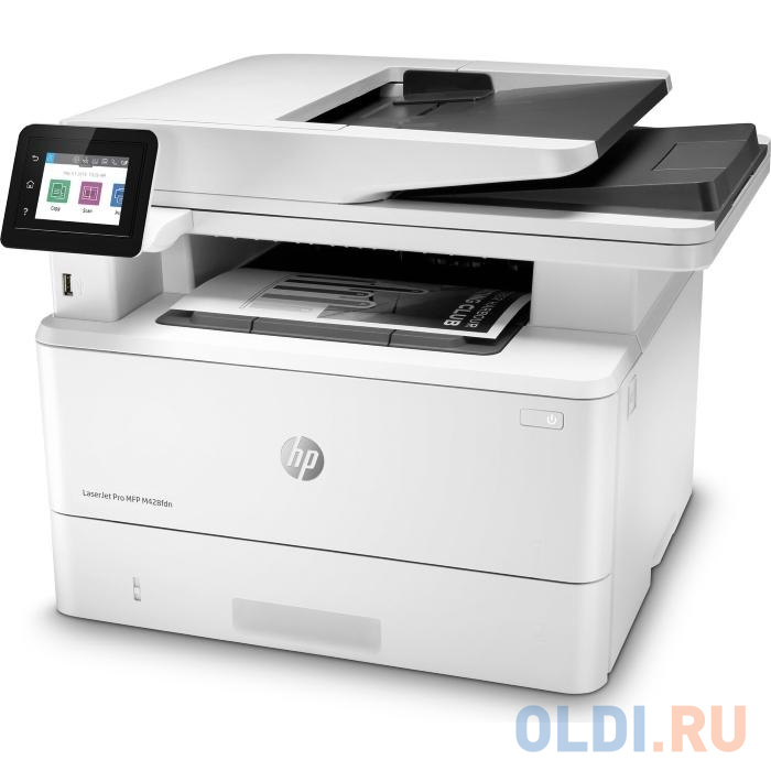 МФУ HP LaserJet Pro M428fdn RU принтер/сканер/копир/факс, A4, ADF, дуплекс, 38 стр/мин, 512Мб, USB, LAN (замена F6W17A M426fdn)