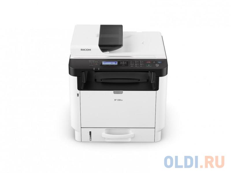 МФУ Ricoh SP 330SN <картридж 1000стр.> (копир-принтер-сканер, ADF, duplex, 32стр./мин., 1200x600dpi, LAN, Wi-Fi, A4, NFC)