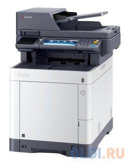 Многофункциональное устройство KYOCERA Цветной копир-принтер-сканер Kyocera M6235cidn (А4, 35 ppm, 1200 dpi, 1024 Mb, USB, Gigabit Ethernet, дуплекс, автоподатчик, тонер) продажа только с доп. тонерами TK-5280K/C/M/Y