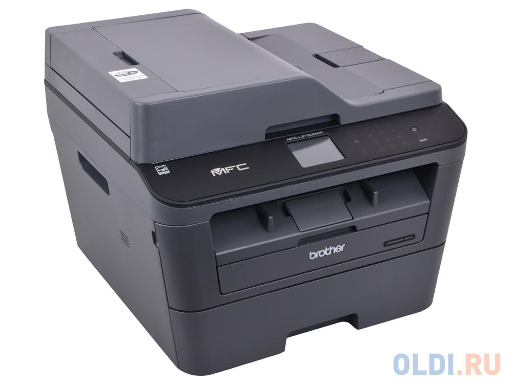 МФУ лазерное Brother MFC-L2720DWR принтер/сканер/копир/факс, A4, 30стр/мин, дуплекс, ADF, 64Мб, USB, LAN, WiFi (замена MFC-7860DWR)