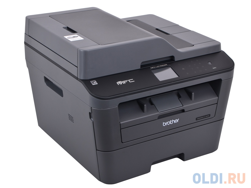 МФУ лазерное Brother MFC-L2740DWR принтер/сканер/копир/факс, A4, 30стр/мин, дуплекс, ADF, двухст. однопр. сканер, 64Мб, USB, LAN, WiFi