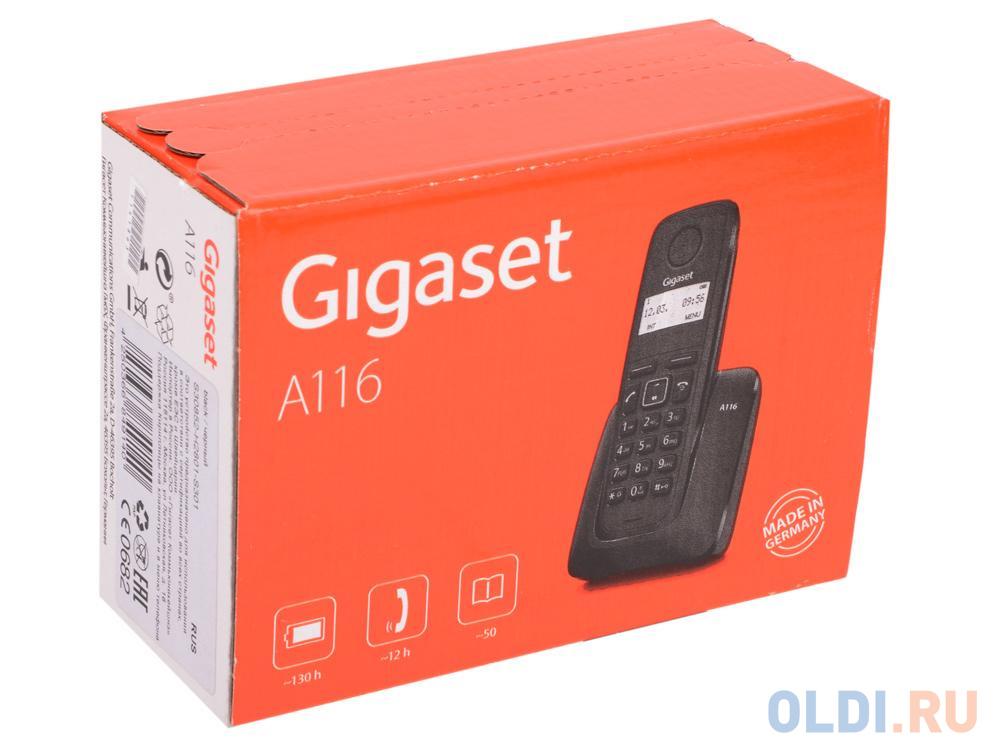 Картинка для Телефон Gigaset A116 Black (DECT)