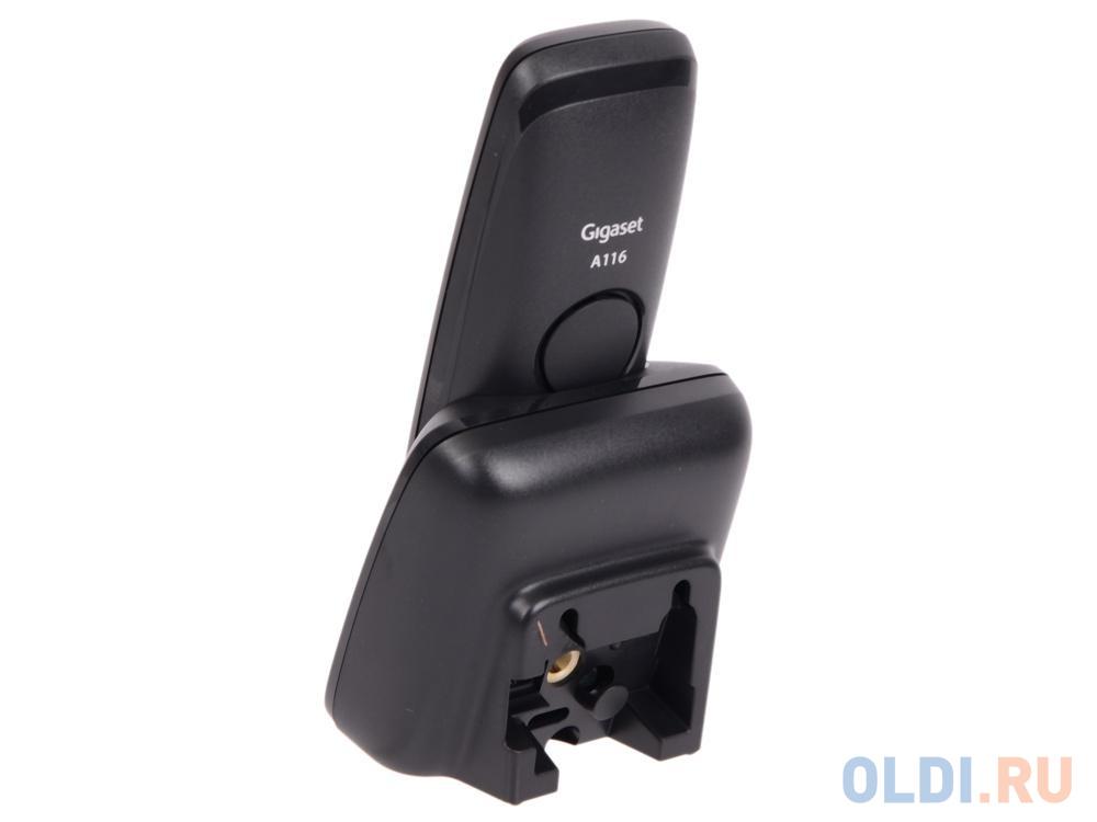 Телефон Gigaset A116 Black (DECT) телефон gigaset a415 black dect