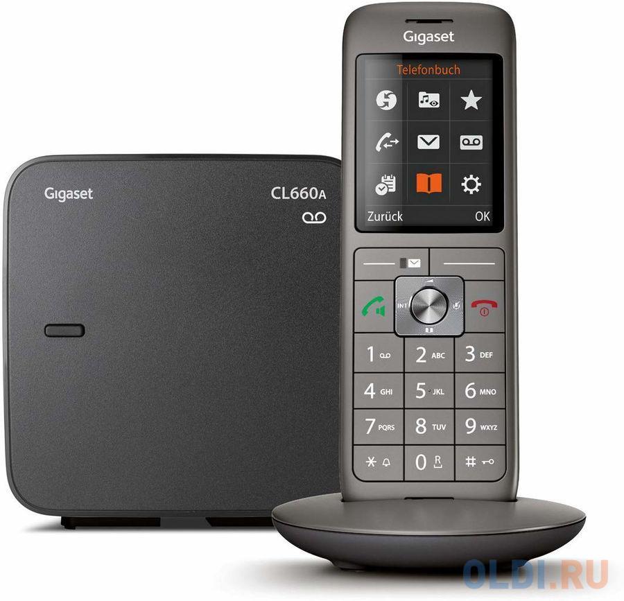 Фото - Р/Телефон Dect Gigaset CL660A черный автооветчик АОН телефон dect gigaset a415a rus s30852 h2505 s302 белый автооветчик аон