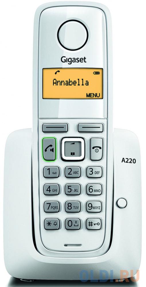 Радиотелефон DECT Gigaset A220 белый фото