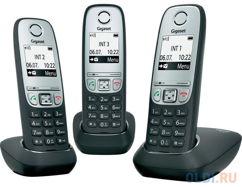 Фото - Радиотелефон DECT Gigaset A415 Trio черный радиотелефон dect gigaset a415 черный