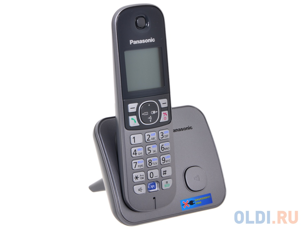 Телефон DECT Panasonic KX-TG6811RUM АОН, Caller ID 50, Спикерфон, Эко-режим, Радионяня