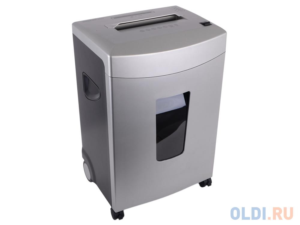 Шредер Office Kit S220 2x9 (DIN P-5 O-1 T-5 E-2) фрагмент 2x9мм,14 листов,32 литра,Уничт.скобы,скрепки,пл.карты,CD