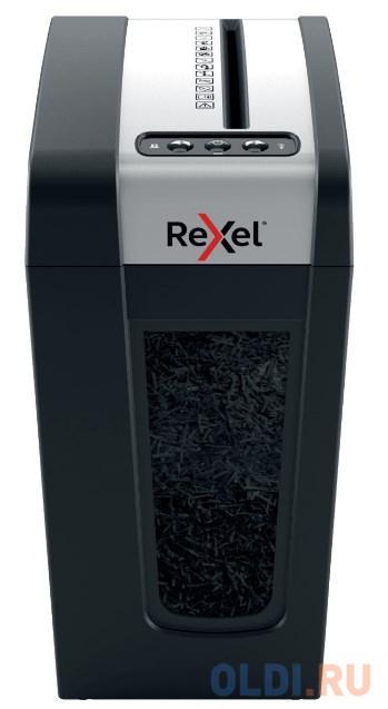 Шредер Rexel SECURE MC4-SL EU черный (секр.P-5)/фрагменты/4лист./14лтр./скрепки/скобы